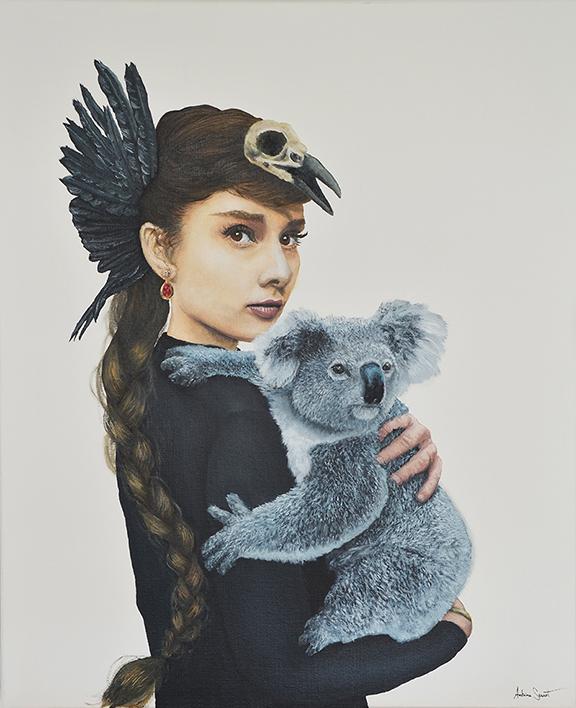 La reine des cendres. Peinture à l'huile sur toile. Artiste peintre Antoine Seurot.